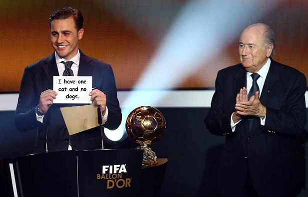 3fecf035723 Fabio Cannavaro is delighted with the phrase that gained him his C in GCSE  English.